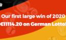 Die erste Gewinnerin 2020 hat im deutschen Lotto 11114,20 € gewonnen!