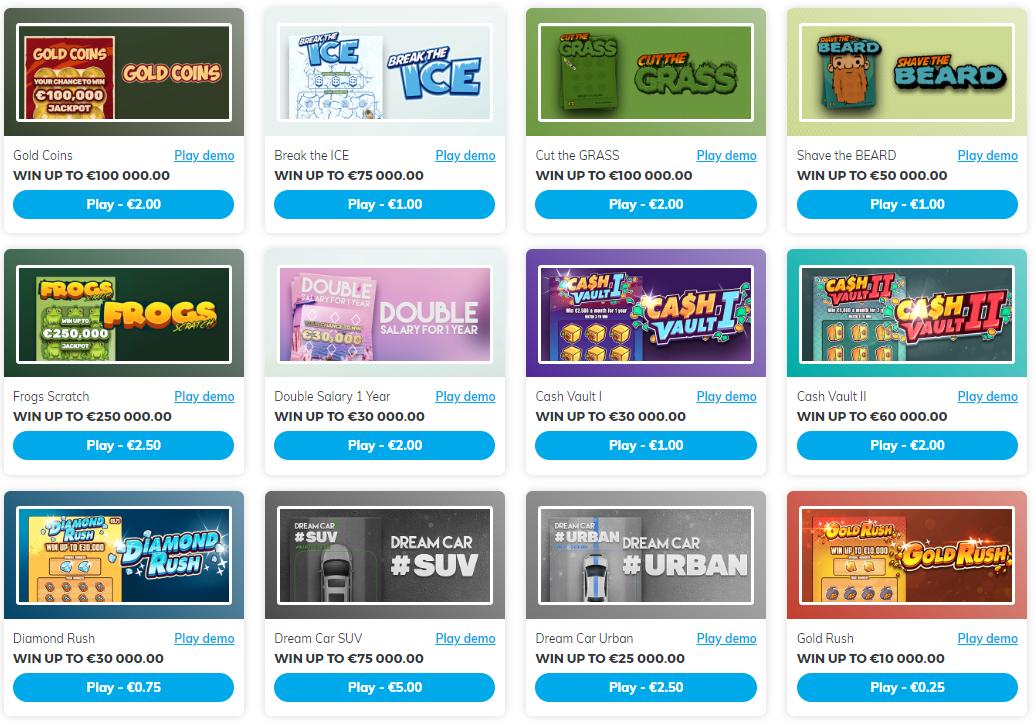 Scratchcard screenshot